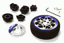 Dual 8 Spoke Steering Wheel Set for Most HPI, Futaba, Airtronics, Hitec & KO