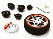 Dual 5 Spoke Steering Wheel Set for Most HPI, Futaba, Airtronics, Hitec & KO