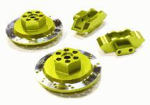 Realistic Alloy Machined Rear Brake Hex Hub Set for HPI 1/10 Scale E10 On-Road