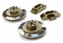 Realistic Alloy Machined Front Brake Hex Hub Set for HPI 1/10 Scale E10 On-Road