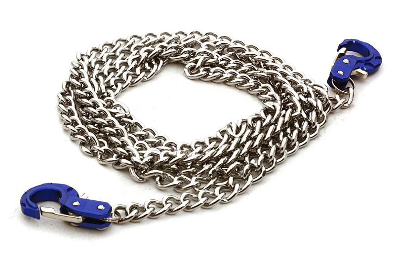 Realistic 1/10 Scale Metal Drag Chain w/ Tow Hooks for Off-Road Crawler