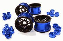 Billet Machined 6 Spoke Wheels w/ Multi Adapters for Most 2.2 Scale Rock Crawler