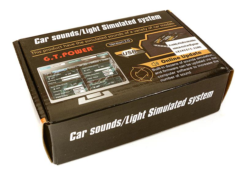 V2 G T Power Car Sounds/Light Simulated System 6 LED 58