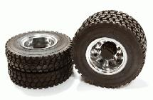 Machined Alloy T6 Rear Dually Wheel & XD Tire for Tamiya 1/14 Scale Trucks