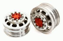 Billet Machined Alloy T5 Front Wheel Set for Hex Type 1/14 Scale Tractor Trucks