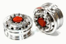 Billet Machined Alloy T6 Front Wheel Set for Tamiya 1/14 Scale Tractor Trucks