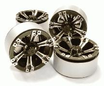 1.9 Size Billet Machined Alloy 6D Spoke Wheel(4)High Mass Type for Scale Crawler