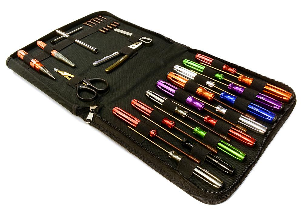 Team Edition Complete 27pcs Racing Tool Set W Pro Carrying Bag