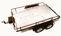 Machined Alloy Flatbed Dual Axle Car Trailer Kit for 1/10 Scale RC
