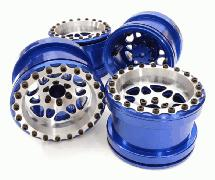 Billet Machined D6 Spoke Wheel Set (4) for Axial 1/10 Yeti Rock Racer