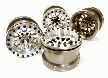 Billet Machined 12 Spoke Wheel Set (4) for Axial 1/10 Yeti Rock Racer