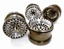 Billet Machined 18 Spoke Wheel Set (4) for Axial 1/10 Yeti Rock Racer