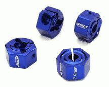 12mm Hex Wheel (4) Hub 7mm Thick for Traxxas 1/10, Axial, Tamiya, TC & Drift
