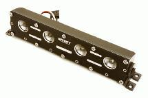 Realistic Roof Top LED Light Bar w/Metal Housing 125x18x27mm for 1/10, 1/8 & 1/5