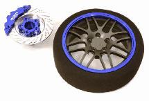 Billet Machined Alloy 16 Spoke Steering Wheel Set for Traxxas Radio Transmitter