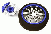 Billet Machined Alloy 10 Spoke Steering Wheel Set for Traxxas Radio Transmitter