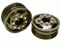 Billet Machined Alloy T7 Front Wheel Set for Hex Type 1/14 Scale Tractor Trucks