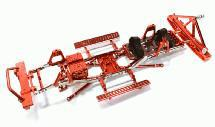 Steel Ladder Frame Chassis Kit w/ Hop-up Combo for SCX-10, Dingo, Honcho & Jeep