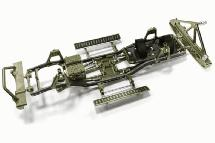 Composite Ladder Frame Chassis Kit w/ Hop-up Combo for SCX-10, Dingo Honcho Jeep