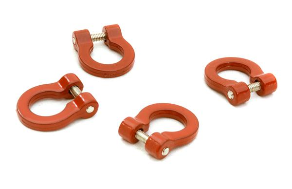 Realistic 1/10 Bow Shackle (4) for Off-Road Trail Rock Crawling