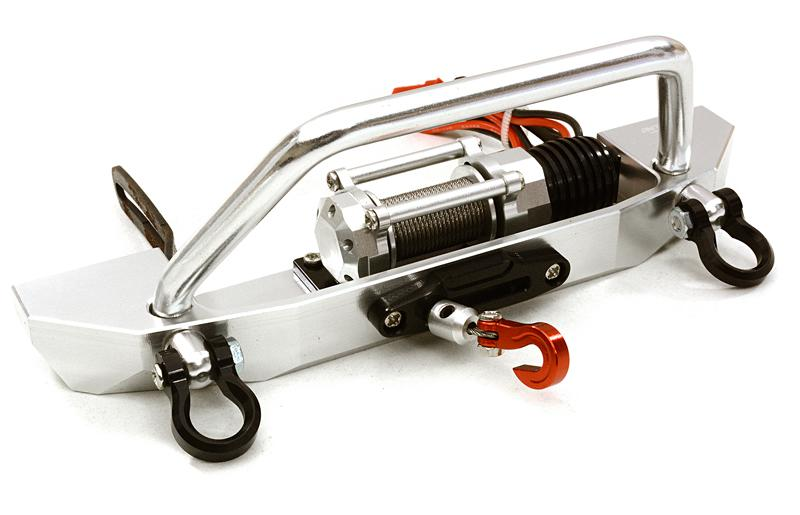 Realistic High Torque Winch w/ Scale Front Bumper for Axial 1/10 SCX10 II