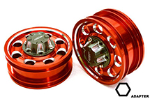 Billet Machined Alloy Front Wheel for Hex Type 1/14 Scale Trucks