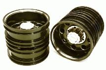 Billet Machined Alloy Rear Dually Wheel Set for Tamiya 1/14 Scale Tractor Trucks