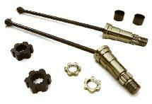 Universal Drive Shafts w/ +12mm Ext. Stub Axles (2) for Traxxas X-Maxx 4X4