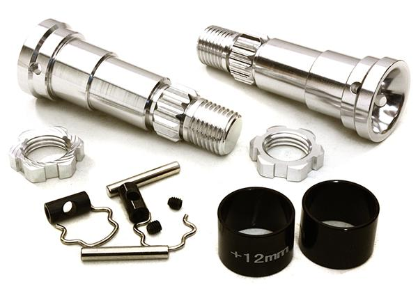 Billet Machined +12mm Ext. Stub Axles for C27070, C27071 & C27072