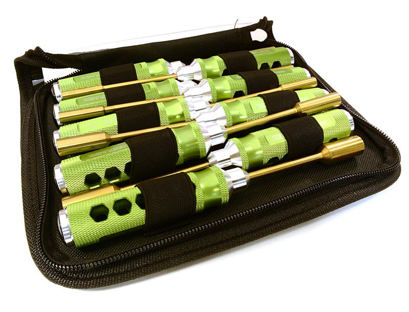 Professional 9pcs Nut Driver Set w/ 22mm Size Handle & Tool Carrying Bag