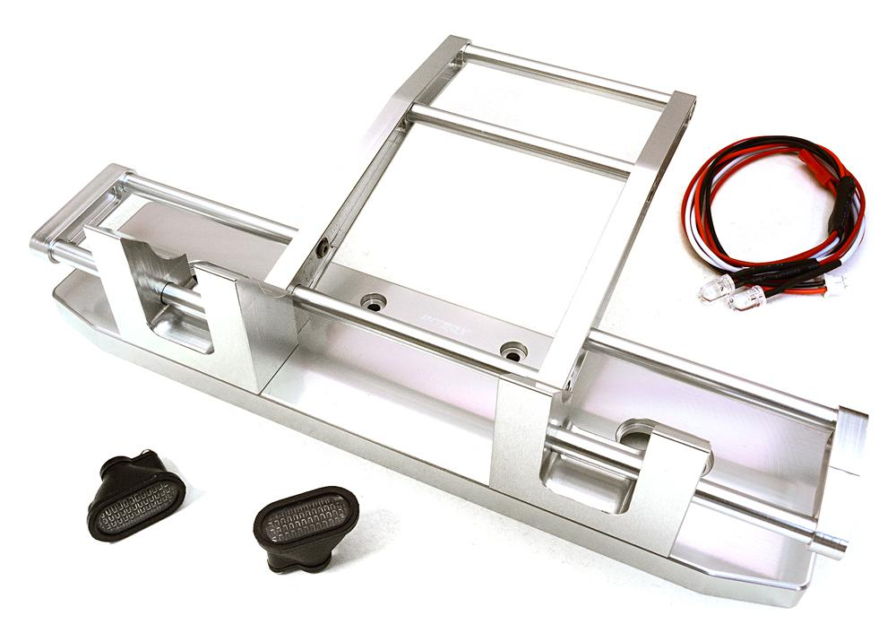 CNC Alloy Front Bumper w/ LED for Tamiya 1/14 King Hauler & Globe Liner