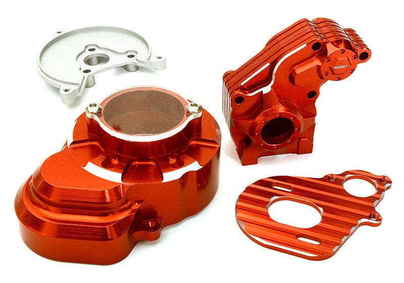 Billet Machined Alloy Main Gearbox Housing for Axial 1/10 SCX-10