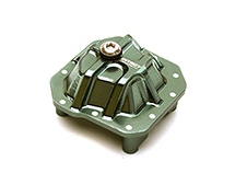 C27141RED Billet Machined Alloy Differential Cover for Axial 1//10 SCX10 II