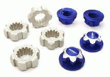 Billet Machined 24mm Wheel Adapters & 17mm Wheel Nuts for Traxxas X-Maxx 4X4