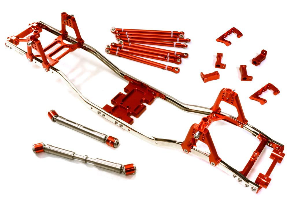 Alloy Ladder Frame Chassis Kit w/ Hop-up Combo for SCX-10, Dingo, Honcho & Jeep