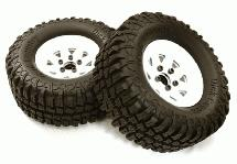 Realistic Spoke Off-Road 1.9 Size Wheel & All Terrain Tire (2) (O.D.=100mm)