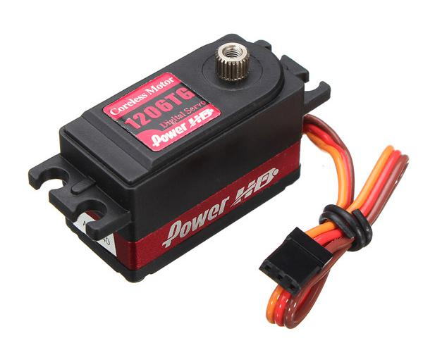 1206TG Low Profile Digital Servo 7kg Torque Output 41x20x26mm 0.06s 97oz-in