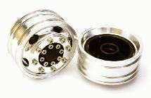 Billet Machined Alloy T8 Front Wheel Set for Tamiya 1/14 Scale Tractor Trucks