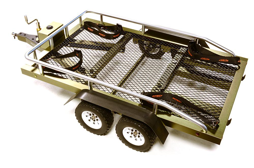Machined Alloy Flatbed Dual Axle Car Trailer Kit for 1/10 Scale RC 580x320x110mm