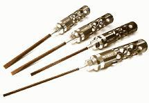 Precision Tool Flat Head (4) Driver Set with Shank OD (3.0 4.0 5.0 5.8mm)