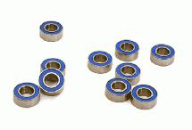 Low Friction Blue Rubber Sealed Ball Bearings (10) 4x8x3mm for RC Vehicles