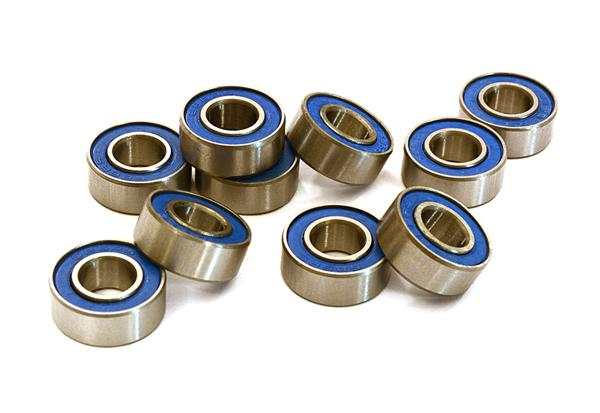 Low Friction Blue Rubber Sealed Ball Bearings (10) 6x13x5mm for RC Vehicles