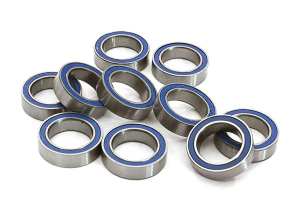 Low Friction Blue Rubber Sealed Ball Bearings (10) 10x15x4mm for RC Vehicles