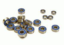 Low Friction Blue Rubber Sealed Bearings (19) Set for Traxxas 1/10 Slash 2WD