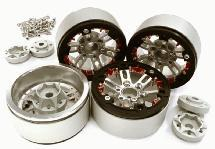 Billet Machined 1.9 D6 Spoke Wheels w/ 0 & +3 Adapters for Traxxas TRX-4