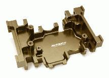 Billet Machined Alloy Gearbox Mount Lower Skidplate for Traxxas TRX-4 Crawler