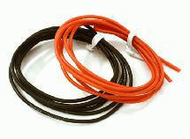 Flexible 22 AWG Gauge Silicone Wire 1m Set, 39in Black 39in Red