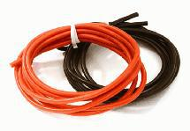 Flexible 18 AWG Gauge Silicone Wire 1m Set, 39in Black 39in Red