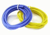 Flexible 14 AWG Gauge Silicone Wire 1m Set, 39in Blue 39in Yellow