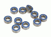 Low Friction Blue Rubber Sealed Ball Bearings (10) 7x14x5mm for RC Vehicles